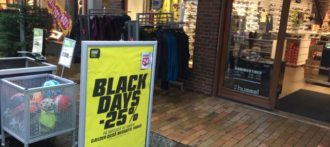Black Friday i julebelysning