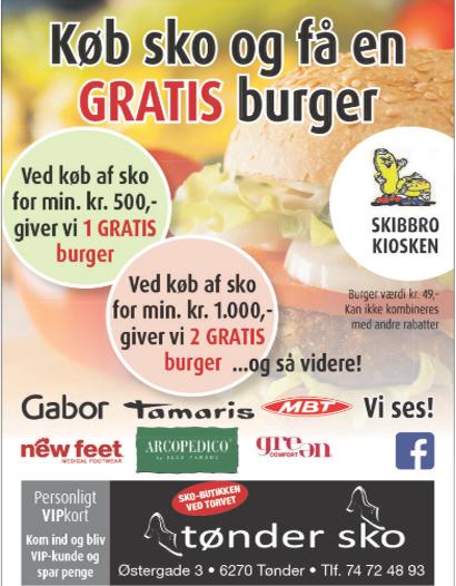 Køb de nye sko hos Tønder Sko og få en lækker burger med i handelen