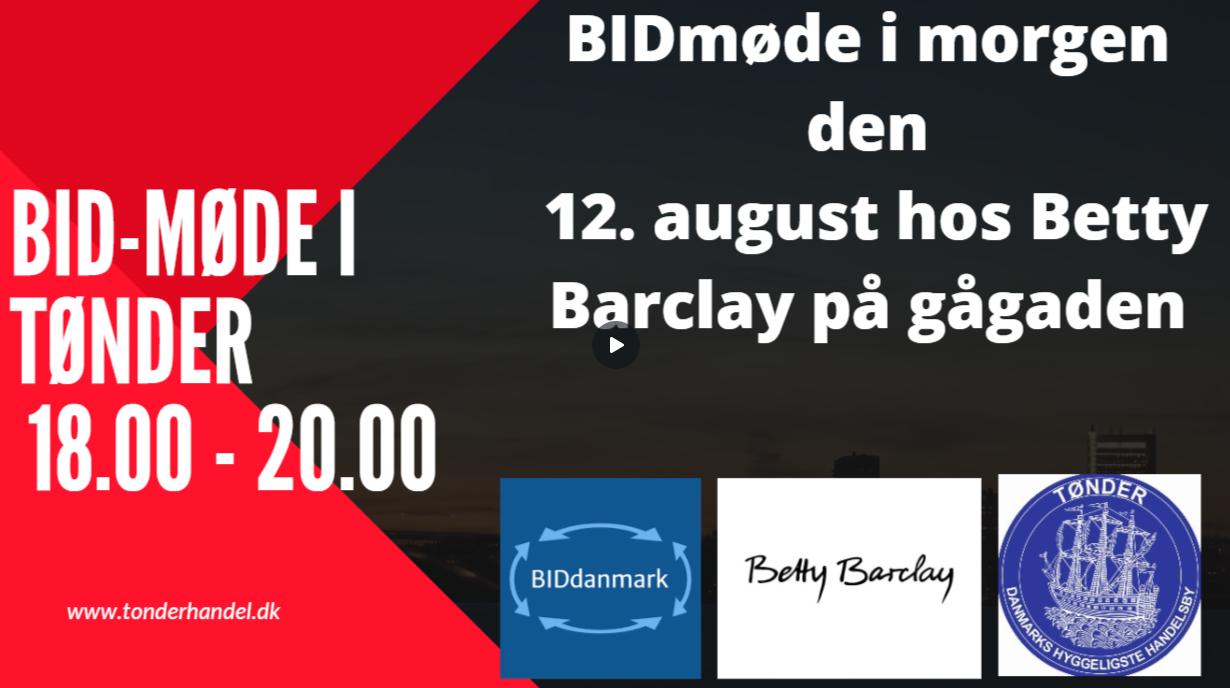 BID-Møde – Tønder midtby – afholdes onsdag den 12. august