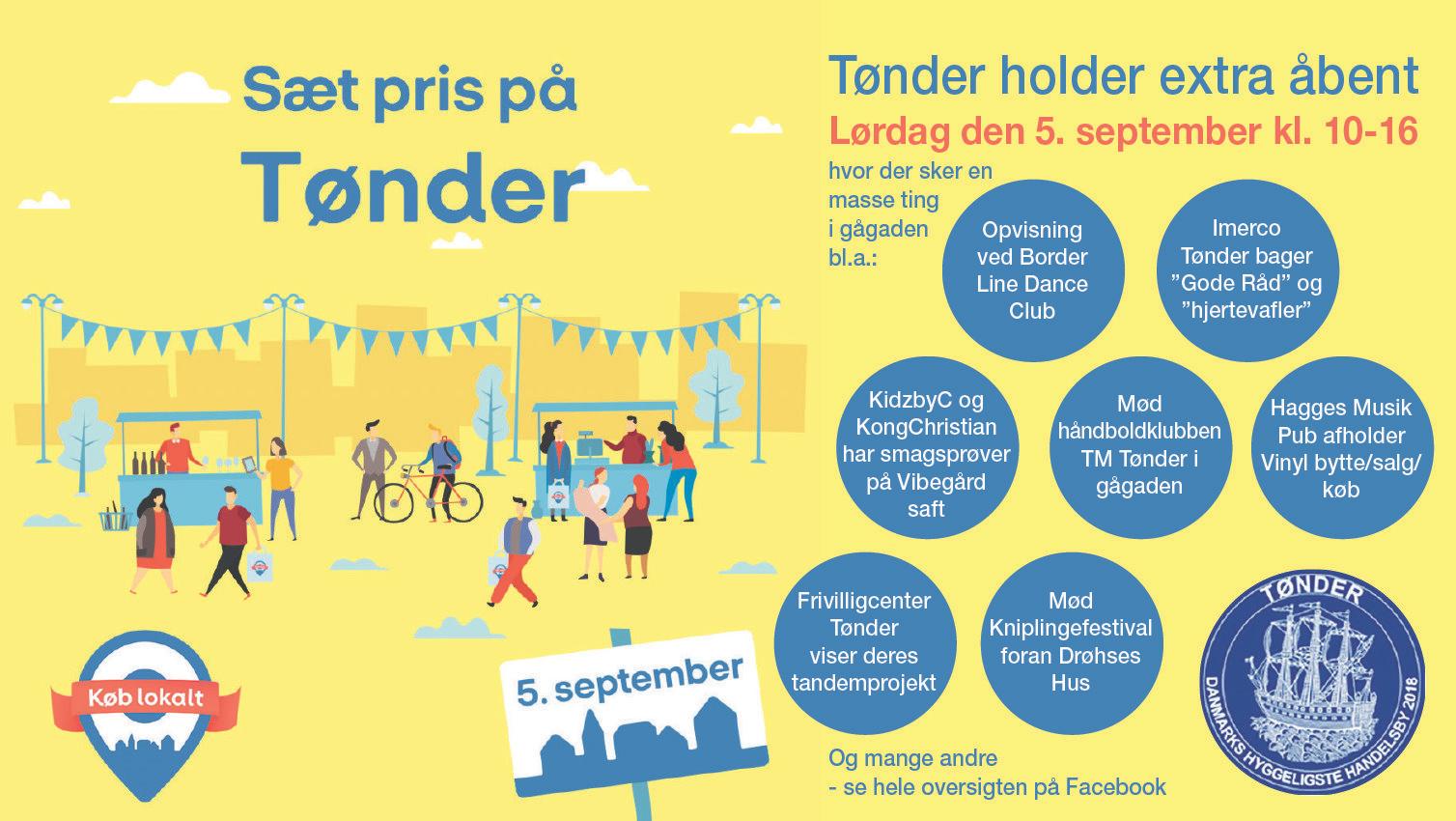 Køb Lokalt Dagen i Tønder – Lørdag den 5. September kl. 10.00 – 16.00