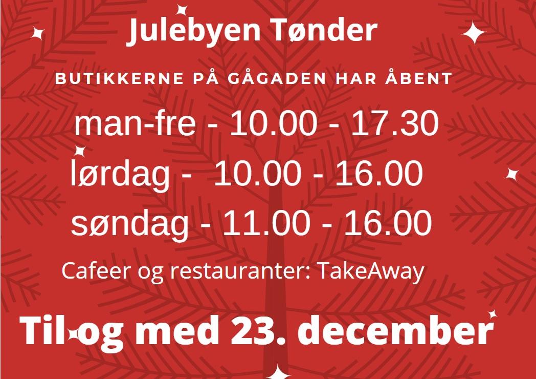 TØNDER: Butikkerne har åbent helt frem til og med den 23. december