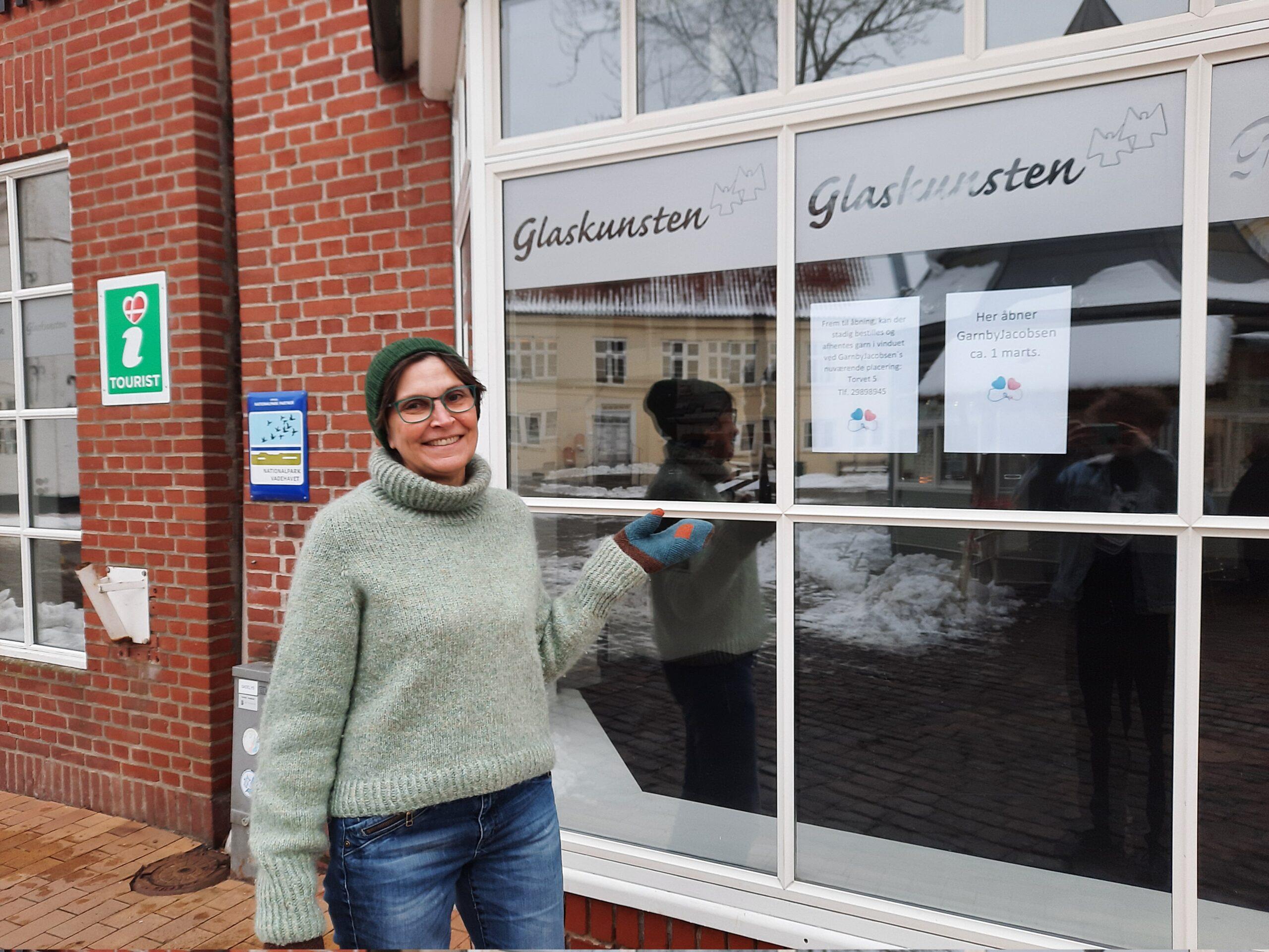 TØNDER: Garn By Jacobsen flytter ud på gågaden 1. marts
