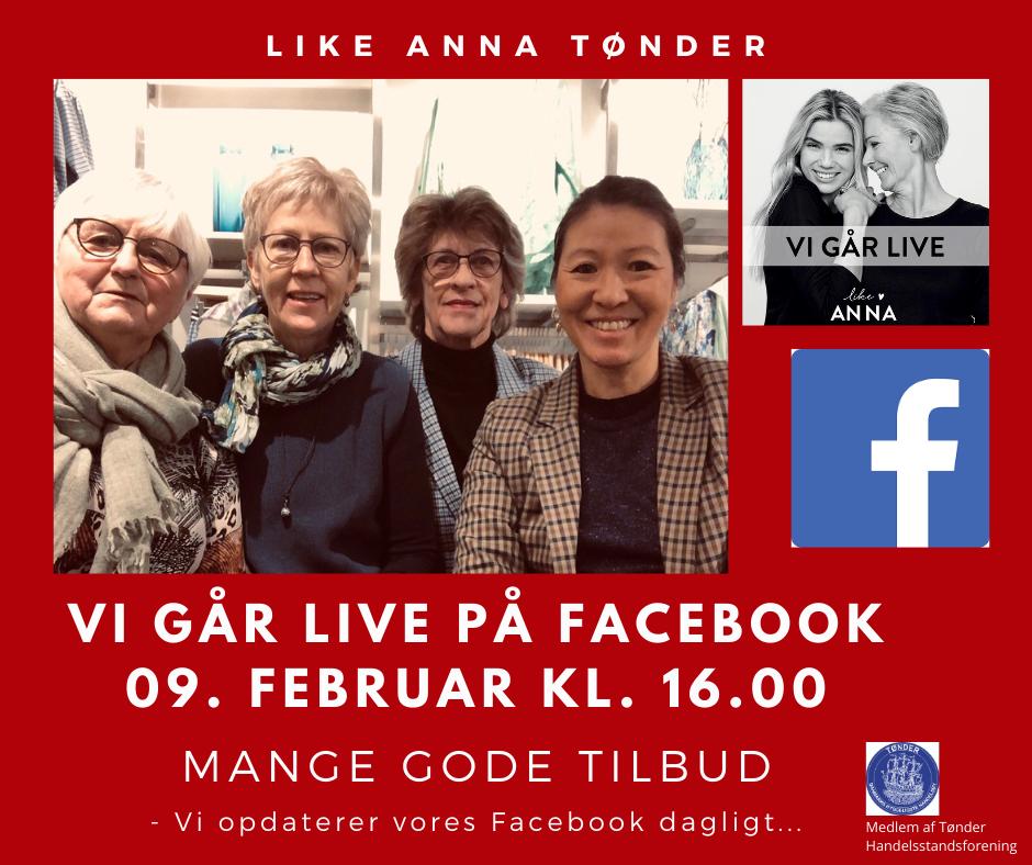TØNDER: Like ANNA går LIVE på Facebook den 9. februar