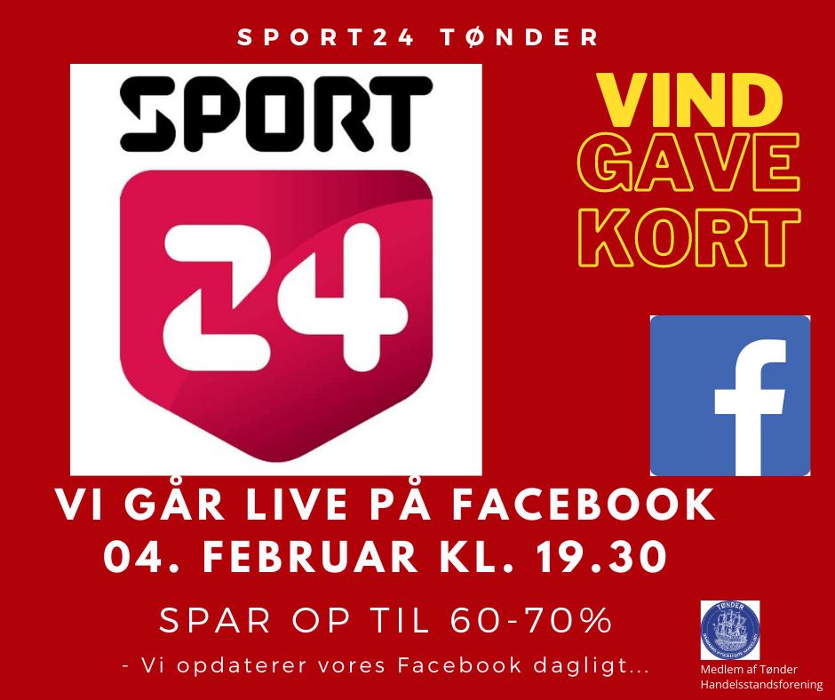 TØNDER: Sport24 går LIVE på Facebook i morgen
