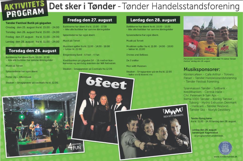 Tønder Festival – Sønderjysk Kagefestival – der bliver gang i den på gågaden